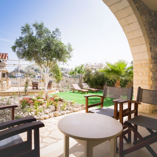 VIEW TO GARDEN OUTSIDE BEDROOMS